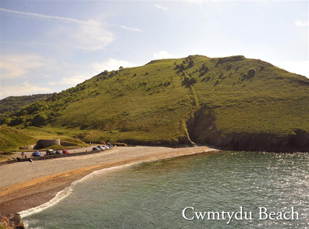 Photograph of cwmtydu-beach