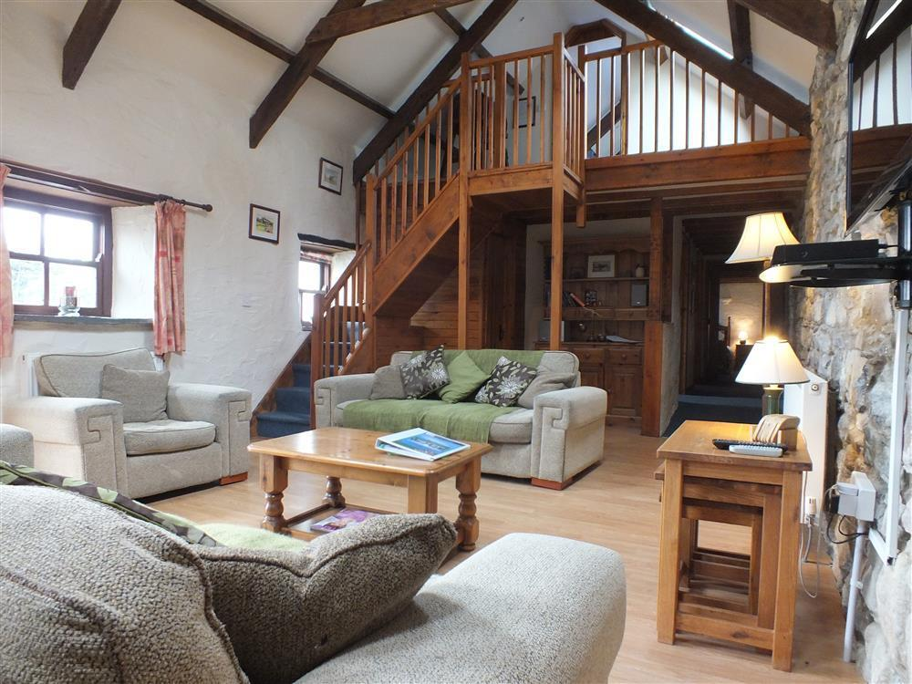 Converted stone barn situated on a small farm within a mile of Newport  Sleeps: 8  Property Ref: 758