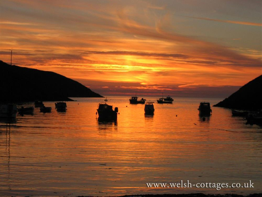 Photograph of 538-9-Sunset Pembrokeshire